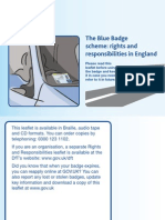 Blue Badge Rights Responsibilities