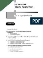 Bogdan Stefanache -introd. in studii europene