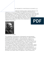 The Birth of the Magnetic Materials Science