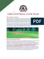 THF Softball Players Packet