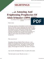 Prophecies of Alois Irlmaier