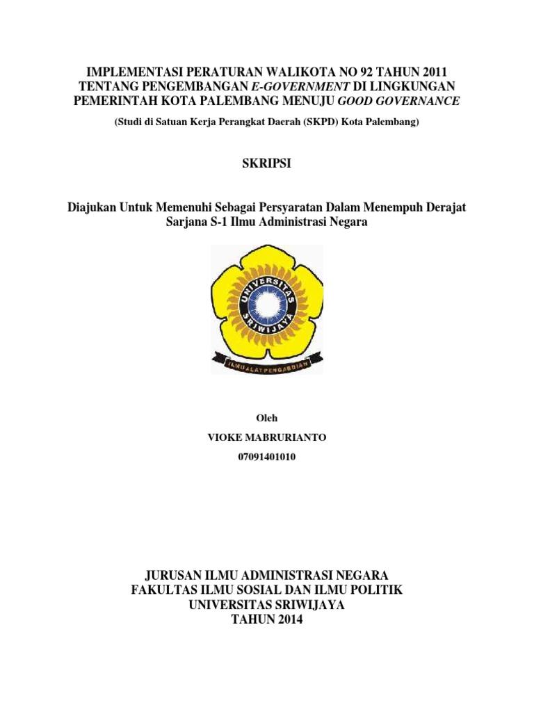 Skripsi E Government Kota Palembang