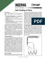 Field Testing of Fans Fe 900