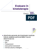 Evaluare in Kinetoterapie
