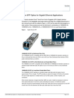 Cisco SFP Optics for Gigabit Ethernet Application