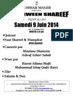 Poster Igyaarween Shareef Shabaan 1435