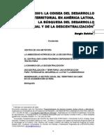 BOISIER La Odisea Del Desarrollo Territorial en America Latina