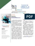 Fenalac News Letter Enero 2014