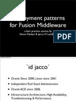 08709_Landlust Haslam Deployment Patterns for Fusion Middleware 11g v2
