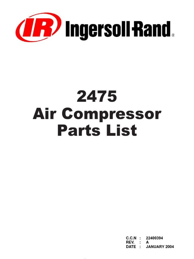 Ingersoll Rand 2475 Parts manual – Ingersoll Rand 185 Wiring Diagram