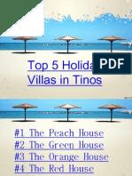 Top 5 Holiday Villas in Tinos