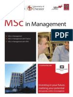 MSc  in Management (University of Chester)