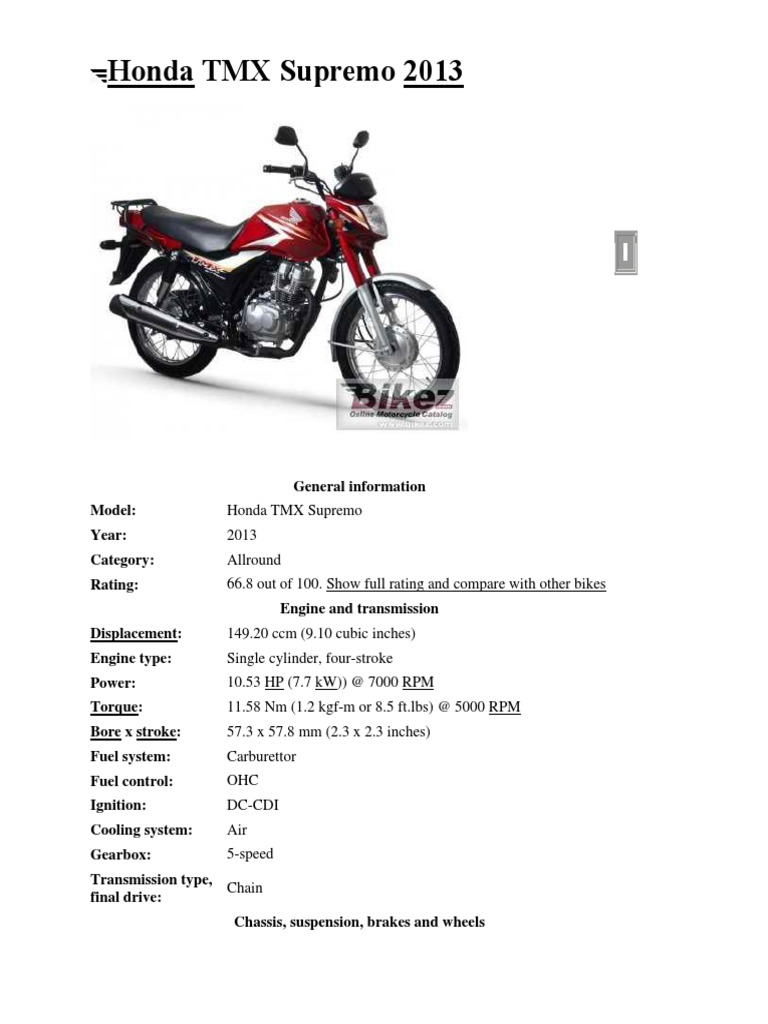 Honda TMX Supremo 2013