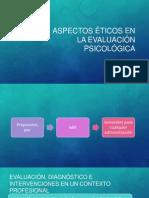 Aspectos Éticos en La Evaluación Psicológica