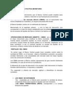 La Politica Monetaria Caso Colombiano