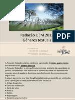 Português Redação UEM2012 Gêneros Textuais Bruno