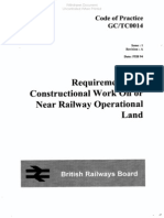 Requirements for constructional working on or near railway operational land