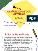 Cap.9 - Usinabilidade Dos Materiais