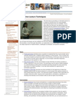 Interactive Lecture Techniques