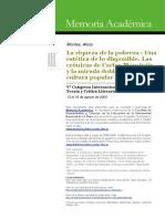 Montes, Alicia - La Riqueza de La Pobreza - Una Estética de Lo Disponible