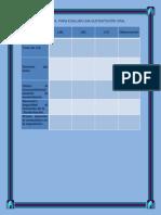 escala descriptiva  para evaluar una sustentacin oral