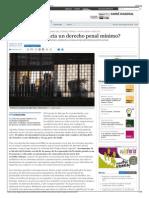 ¿Vamos Hacia Un Derecho Penal Mínimo - Periódico Diagonal