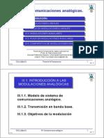 Tema II 1 Introduccion a La Modulaciones Analogica