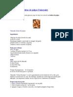 Receta de Las Bolitas de Pulpo (Takoyaky)