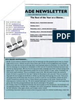 6th grade newsletter may 30 2014