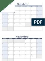 Calendário Vazio Para Organização