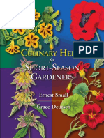 Culinary Herbs for Short Season Gardeners