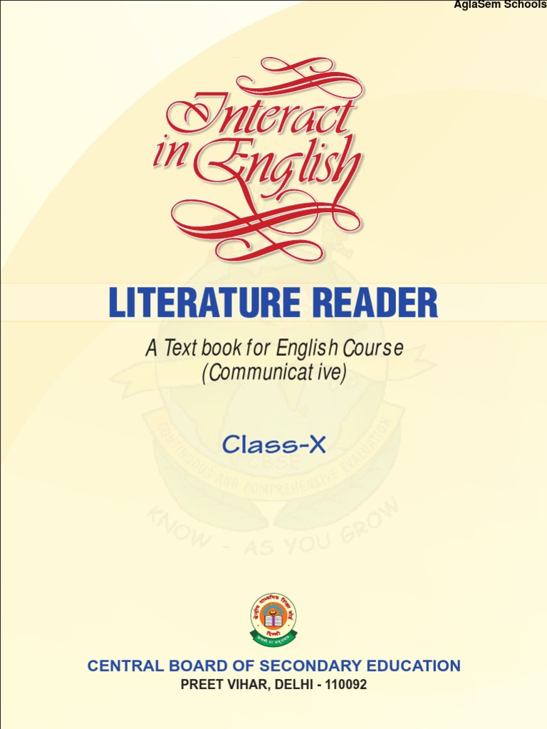 ncert solutions for class 10 english literature the letter