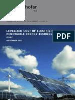 Fraunhofer-IsE LCOE Renewable Energy Technologies Version Nov2013 En