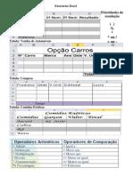 Telas e Exercícios Excel