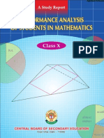 CBSE Class X Performance Analysis of Students in Mathematics
