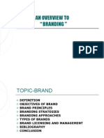 "An Overview to "" Branding """