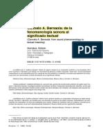 C a r m e l o a . Be r n a o l a - d e l a Fenomenología Sonora