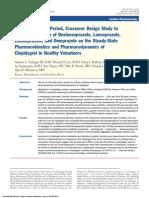 A Randomized, 2-Period, Crossover Design Study to Assess the Effects of Dexlansoprazole, Lansoprazole, Esomeprazole, And Omeprazole on the Steady-State Pharmacokinetics and Pharmacodynamics of Clo
