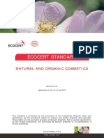 Ecocert Natural and Organic Cosmetic Ecocert Greenlife Standard 2012 With TS 1