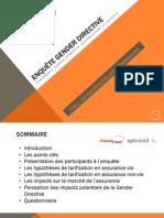 Resultats Enquete Gender Directive 31052012