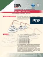 Iniciadores y Explosivos Para Voladura Secundaria - Demoledor Conico Dcf - Pentolita Para Plasteo de Rocas