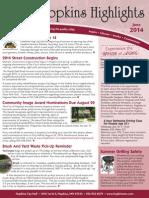 Hopkins Highlights-June 2014