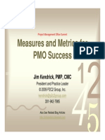 PMO Performance Measurement Metrics(Kendrick)