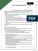 Volantic PMO Metrics Recommendations
