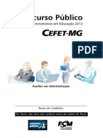 Cefet Mg 2014 Cefet Mg Auxiliar de Administracao Prova