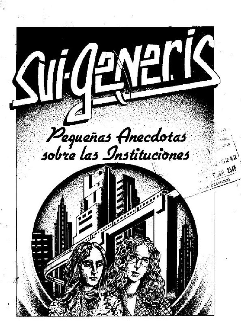Resultado de imagen para SUI GENERIS - PEQUENAS ANECDOTAS