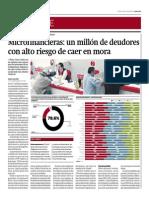 Microfinancieras_un Millón de Deudores Con Alto Riesgo de Caer en Mora_Gestión 30-05-2014
