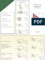 pythagorean theorem brochure pdf