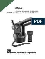 ETX 60 70AT Manual