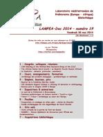 LAMPEA-Doc 2014 – numéro 19 / Vendredi 30 mai 2014